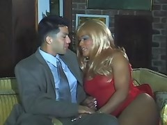 Lovely horny ebony shemale seducing guy in oriel