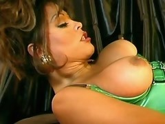 Sexy swarthy ts jerks off n gets her dick sucked