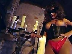 Guy has kinky fun w lewd trannies in masks n girl