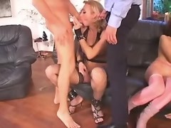 Sweet tranny get off in crazy party