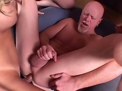 Three horny shemales fucking with guy in sexorgy