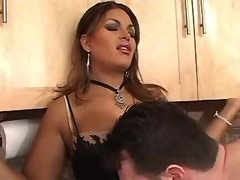 Men jizzed on tits brunette shemale after hard sex