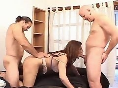Mature shemale fucked and gets cum