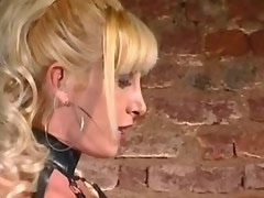 TS and doll in latex outfit in orgy