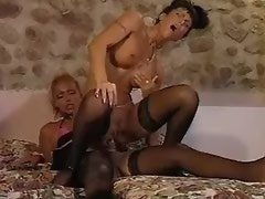 Two lustful trannies in crazy orgy