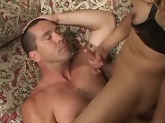 Beautiful shemale abuses and fucks submissive chap