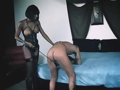 Beautiful chocolate tgirl humiliates to slave chap