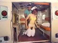 Shemale nurse screwed in ambulance