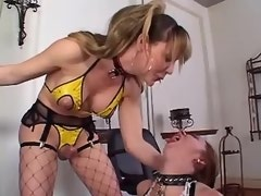 Rough fetish shemale fucks submissive redhead girl