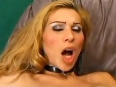 Tranny sucked and fucked by old man