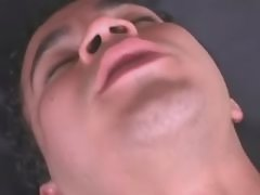 Asian shemale gets assfucked on bed