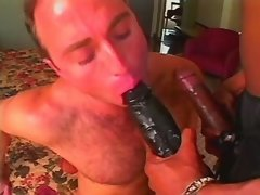 Blackie shemale fucks white guy